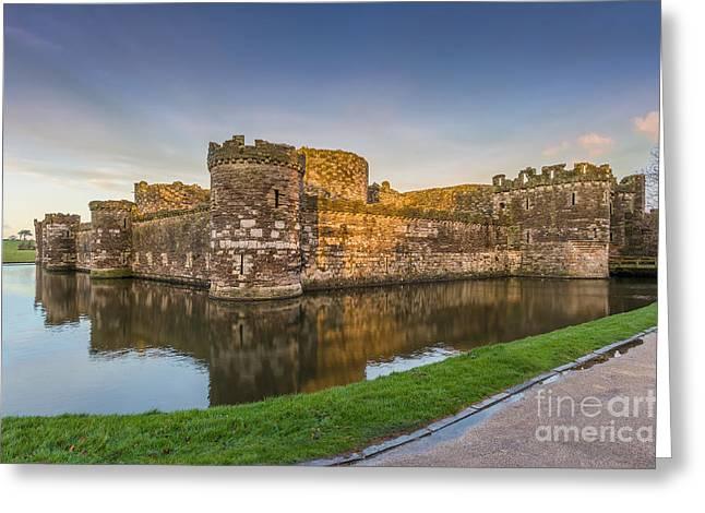 Recently Sold -  - Entrance Door Greeting Cards - Beaumaris Castle Greeting Card by Bahadir Yeniceri
