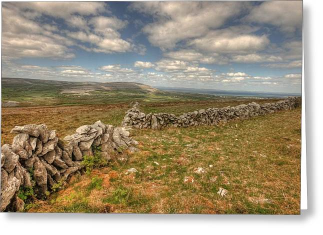 Irish Farm Greeting Cards - Beautiful Burren View Greeting Card by John Quinn