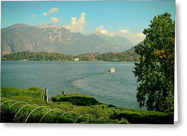 Italian Lake Greeting Cards - Beautiful Lake Como Greeting Card by Mountain Dreams