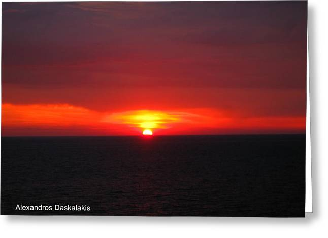 Amazing Sunset Greeting Cards - Beautiful Sunset Greeting Card by Alexandros Daskalakis