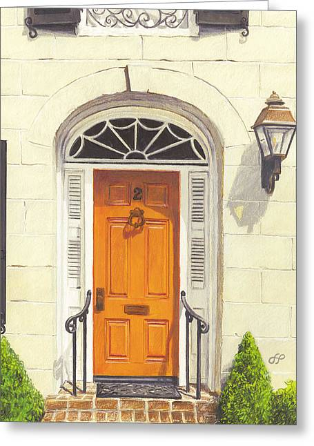 Charleston Drawings Greeting Cards - 2 Bedons Alley Greeting Card by Stephen Paul Herchak