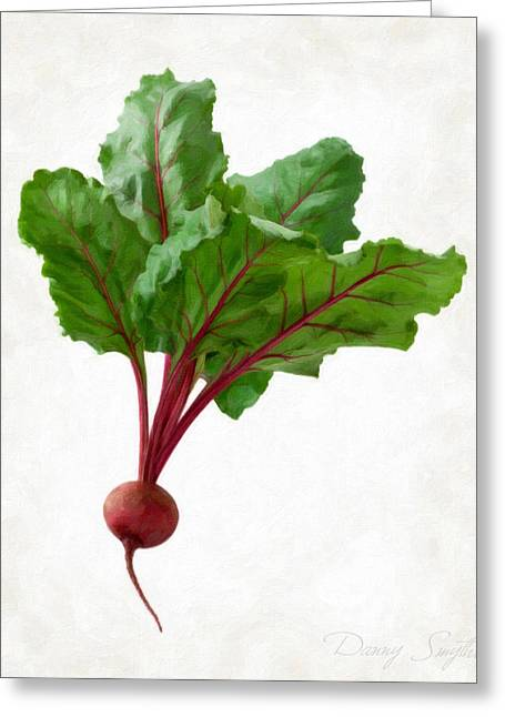 Single Object Paintings Greeting Cards - Beet Greeting Card by Danny Smythe