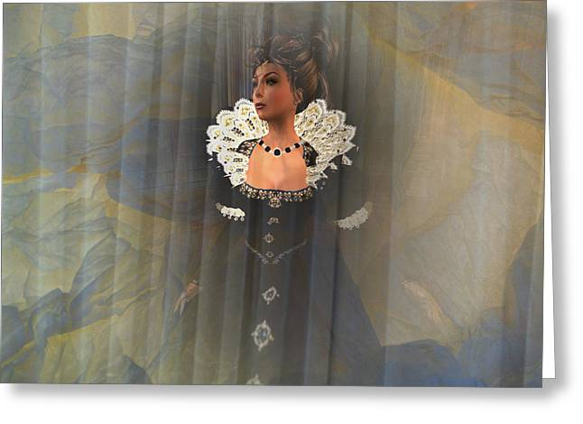 Updo Greeting Cards - Behind the Veil Greeting Card by Kylie Sabra