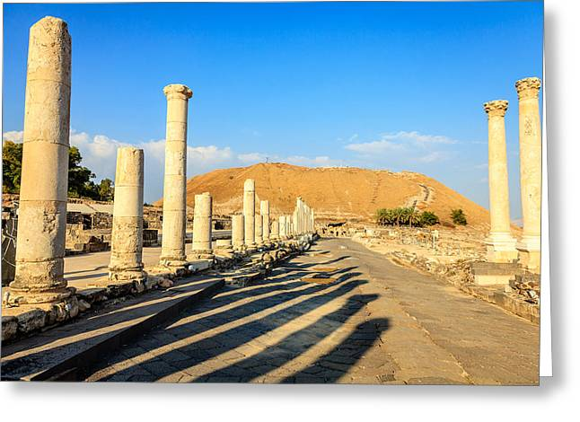 Byzantine Greeting Cards - Beit Shean Greeting Card by Alexey Stiop