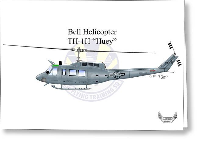 Fort Rucker Greeting Cards - Bell Helicopter TH-1H Huey Greeting Card by Arthur Eggers
