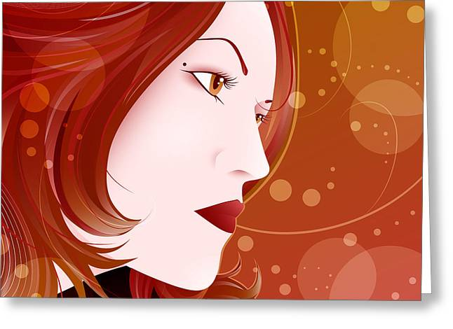 Lips Greeting Cards - Bella Donna II Greeting Card by Sandra Hoefer
