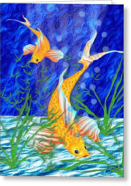 Iridescence Greeting Cards - Beneath The Waves Greeting Card by Jack Zulli