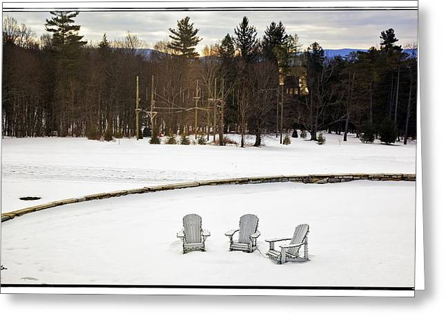 Snowy Day Greeting Cards - Berkshires Winter 3 - Massachusetts Greeting Card by Madeline Ellis