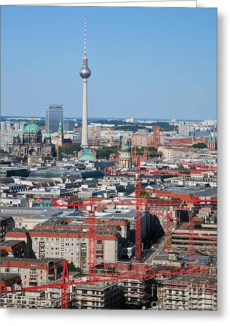 Berlin Germany Greeting Cards - Berlin Cathedral and TV Tower Greeting Card by Michal Bednarek