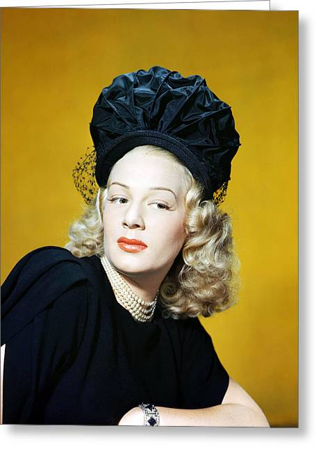 Betty Greeting Cards - Betty Hutton Greeting Card by Silver Screen