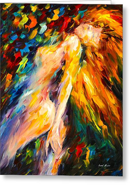 Amazing Stories Greeting Cards - Bias Greeting Card by Leonid Afremov