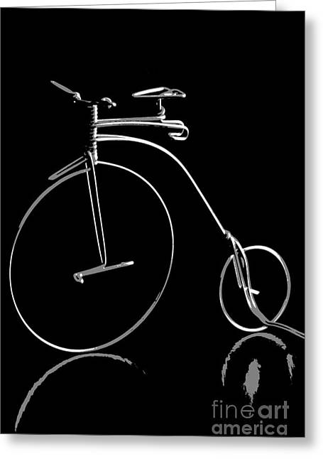Bicycle In Black And White Greeting Card by Sophie Vigneault