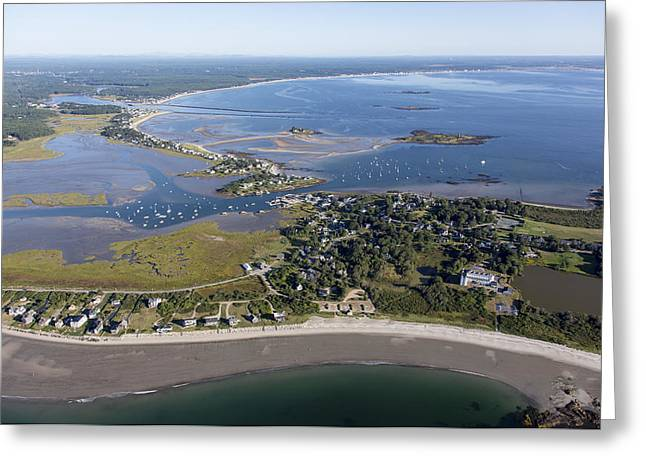 Maine Beach Greeting Cards - Biddeford, Maine Me Greeting Card by Dave Cleaveland