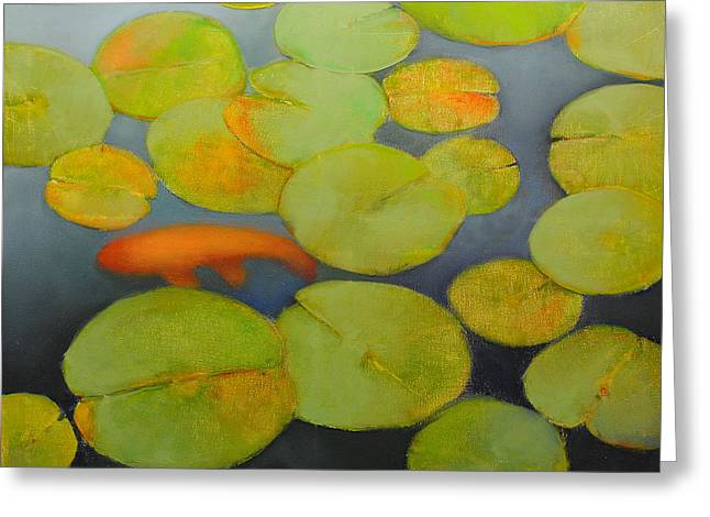 Pond Framed Prints Greeting Cards - Big Koi Greeting Card by Cap Pannell