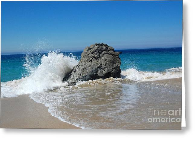 Big Splash Big Sur California Greeting Card by Debra Thompson