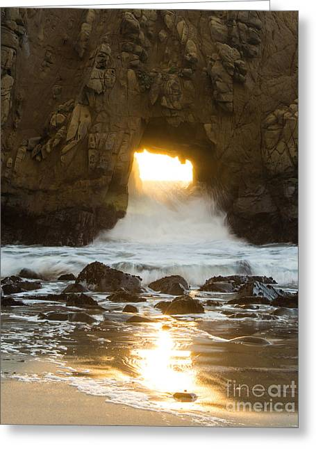 Pfeiffer Beach Greeting Cards - Big Sur Portal Greeting Card by Suzanne Luft
