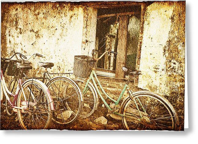 Despair Greeting Cards - Bikes And A Window Greeting Card by Skip Nall