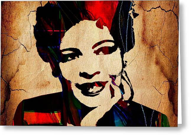 Billie Holiday Greeting Cards - Billie Holiday Collection Greeting Card by Marvin Blaine