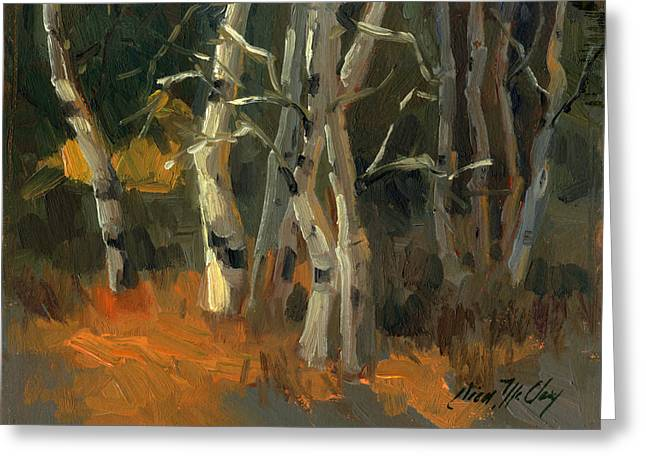 Fall Colors Greeting Cards - Birches Greeting Card by Diane McClary