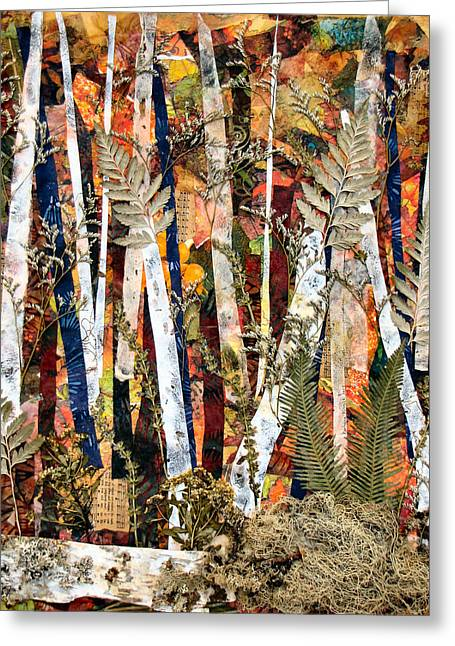 Birch Tree Mixed Media Greeting Cards - Birches II Greeting Card by Barbara Kinnick