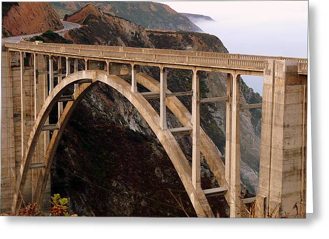 Coast Highway One Greeting Cards - Bixby Bridge Greeting Card by Jeff Lowe