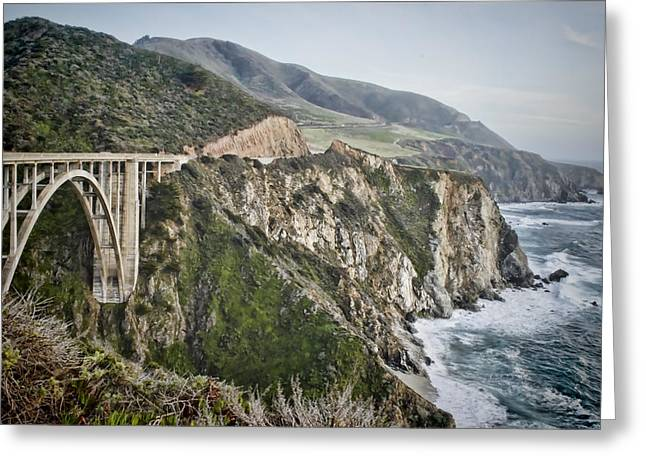 Bixby Greeting Cards - Bixby Bridge Vista Greeting Card by Heather Applegate