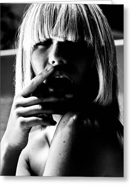 Famous Photographers Greeting Cards - Black and White Greeting Card by Maria  Lankina