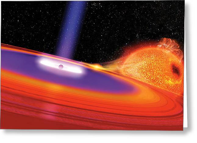 Black Hole Greeting Card by Don Dixon