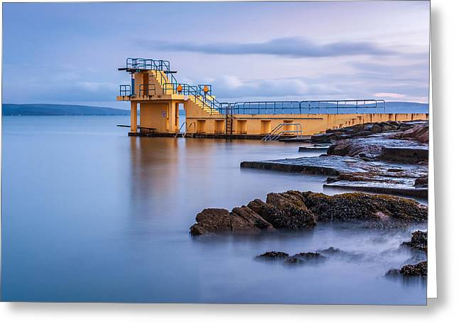 Diving Board Greeting Cards - Blackrock Diving platform Galway Ireland Greeting Card by Pierre Leclerc Photography