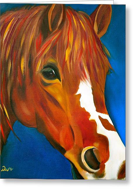 Blaze Greeting Cards - Blaze Greeting Card by Debi Starr