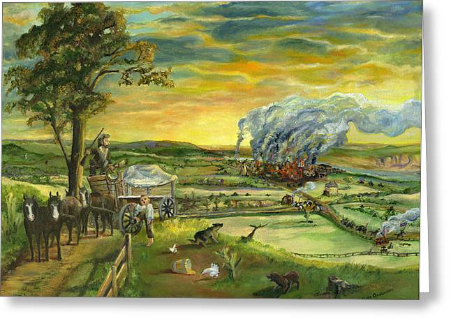 Slavery Paintings Greeting Cards - Bleeding Kansas - A Life and Nation Changing Event Greeting Card by Mary Ellen Anderson