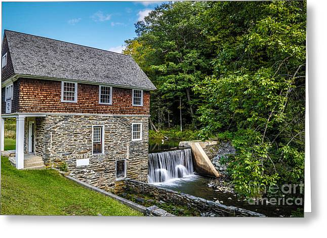 Mills Greeting Cards - Blow Me Down Mill Cornish New Hampshire Greeting Card by Edward Fielding