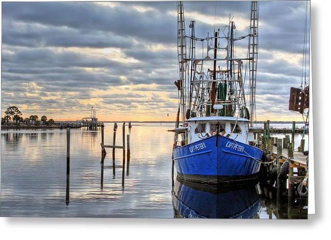 Pensacola Greeting Cards - Blue Greeting Card by JC Findley