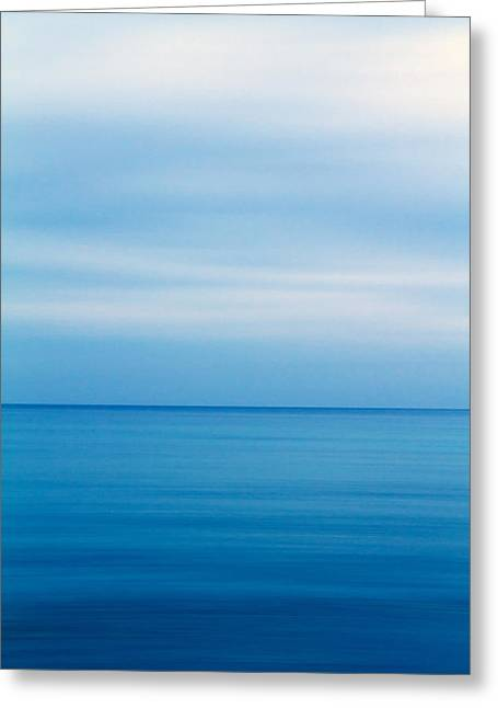 Mediterranean Landscape Greeting Cards - Blue Mediterranean Greeting Card by Stylianos Kleanthous