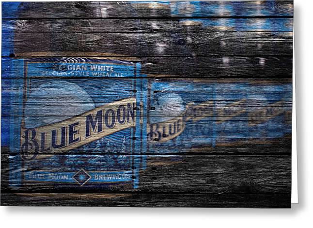 Blue Moon Greeting Card by Joe Hamilton