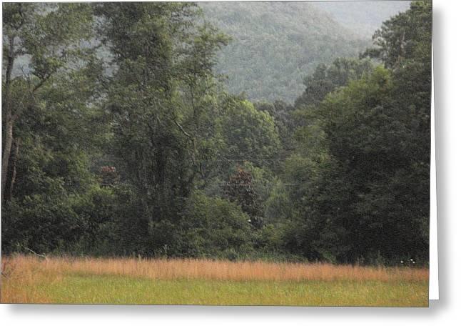 Blue Ridge Mountains Greeting Card by Glenda Barrett