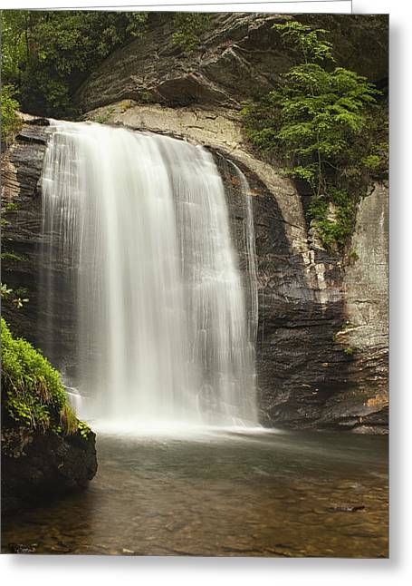 Waterfall Greeting Cards - Blue Ridge Waterfall Greeting Card by Andrew Soundarajan