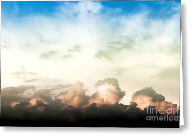 Overcast Day Greeting Cards - Blue Sky With Clouds Greeting Card by Dan Radi