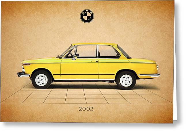Bmw Vintage Cars Greeting Cards - Bmw 2002 Greeting Card by Mark Rogan