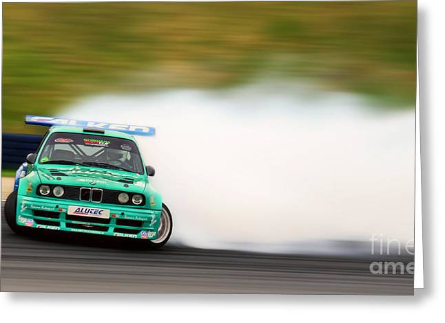 Best Sellers -  - Deutschland Greeting Cards - BMW Drift Greeting Card by Martin Slotta