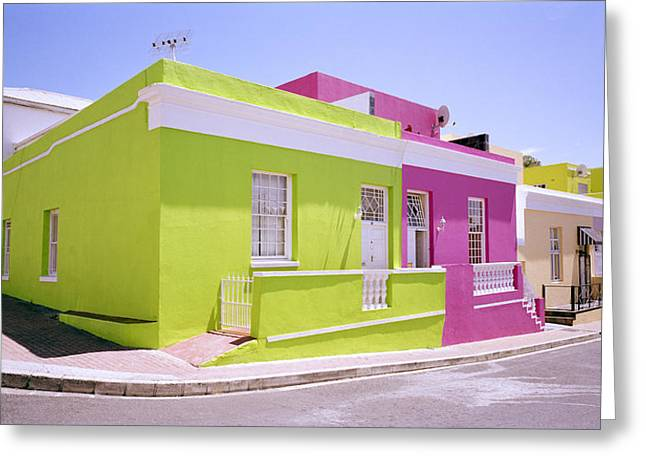 Bold Style Greeting Cards - Bo Kaap Color Greeting Card by Shaun Higson