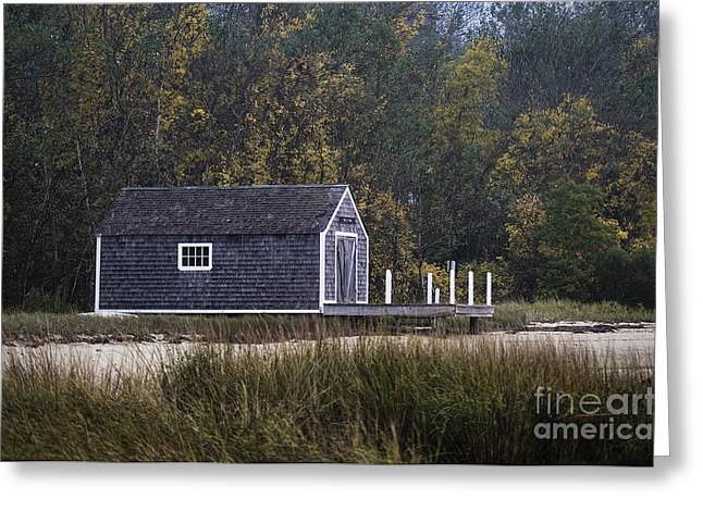 Chatham Greeting Cards - Boathouse Greeting Card by John Greim
