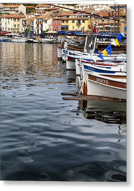 South Of France Greeting Cards - Boats at Rest Greeting Card by Nomad Art And  Design