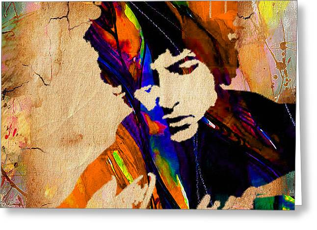 Bob Dylan Collection Greeting Card by Marvin Blaine