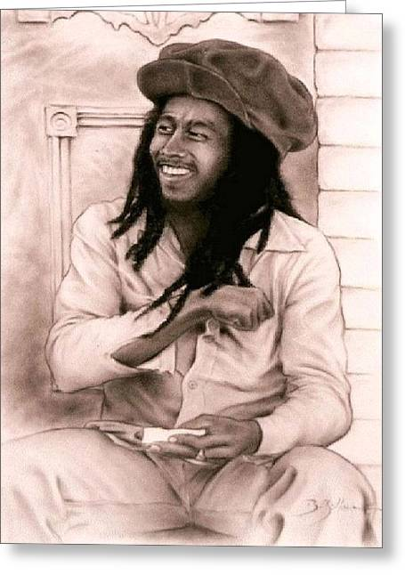 Workshop Guillaume Art Gallery Greeting Cards - Bob Marley Greeting Card by Guillaume Bruno