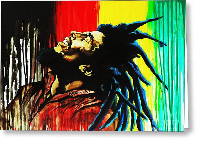 Acclaim Greeting Cards - Bob Marley  Greeting Card by Kusum Vij