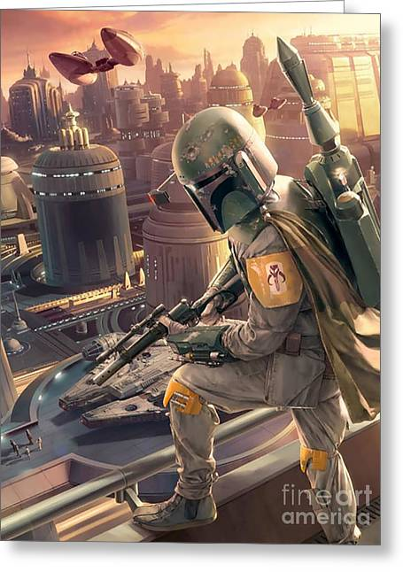 Boba Fett Greeting Card by Baltzgar