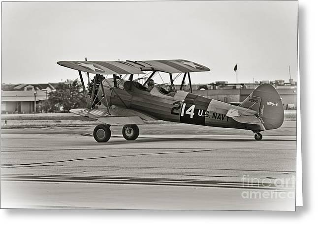 Best Sellers Greeting Cards - Boeing N2S-4 Stearman Kaydet Greeting Card by Charles Dobbs