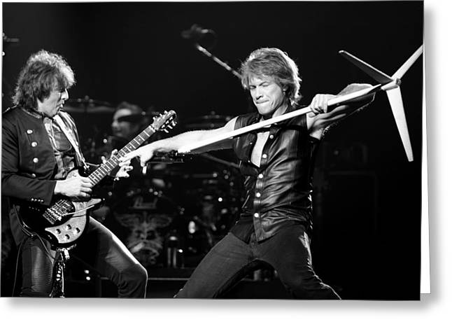 Live Music Greeting Cards - Bon Jovi Greeting Card by Ben James