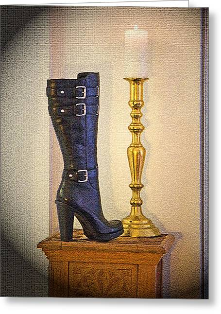 Staley Photographs Greeting Cards - Boot Greeting Card by Chuck Staley